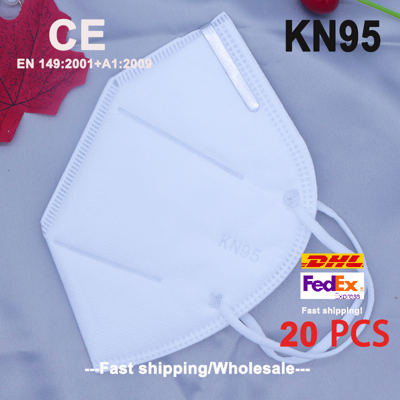 20Pcs/Lot Reusable KN95 Mask FFP2 Face Mask N95 Protection Face Mask Mouth Cover Pm2.5 Dust Masks 4 Layers Filter