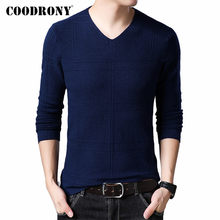 COODRONY Brand Sweater Men Casual V-Neck Pull Homme 2019 Autumn Winter Cotton Pullover Men Jersey Hombre Knitwear Sweaters C1010(China)
