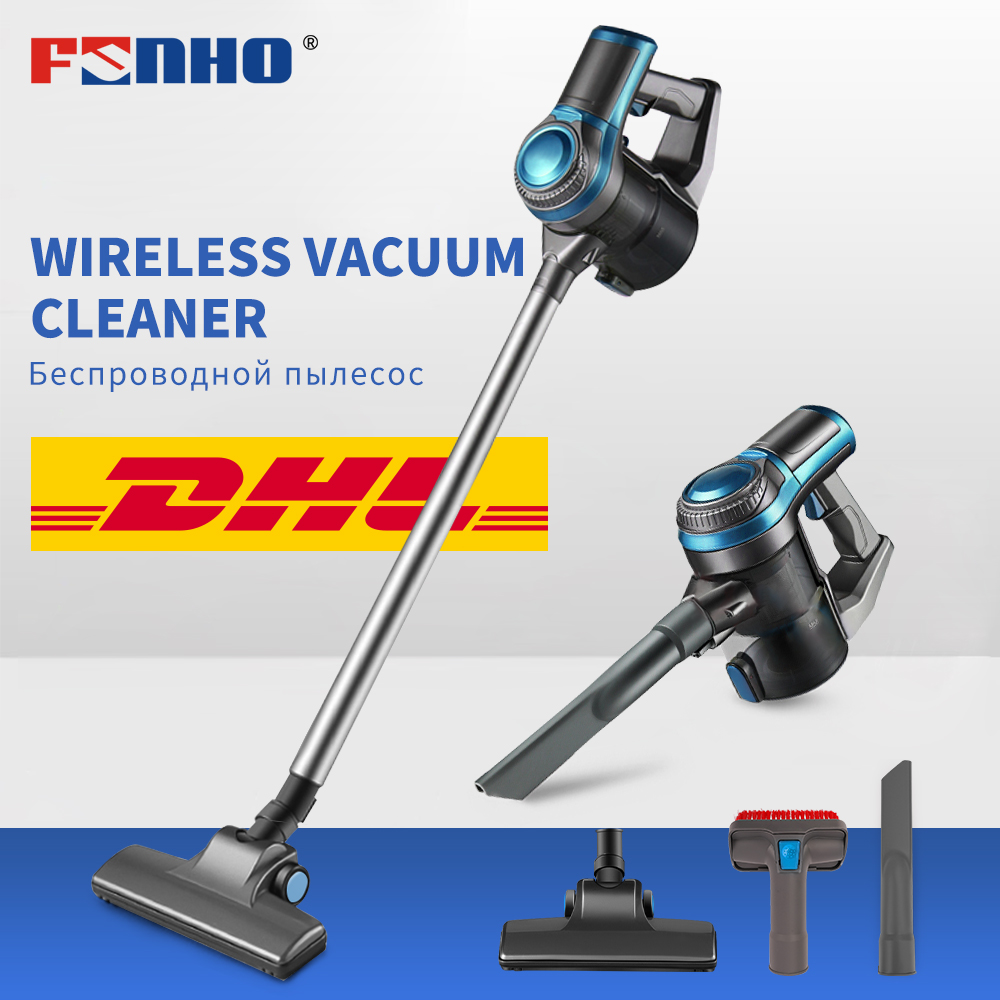 FUNHO Handheld Wireless Vacuum Cleaner for Home 9500 Pa Carpet Car Cordless Dust Collector Cyclone Filter Multifunctional Brush