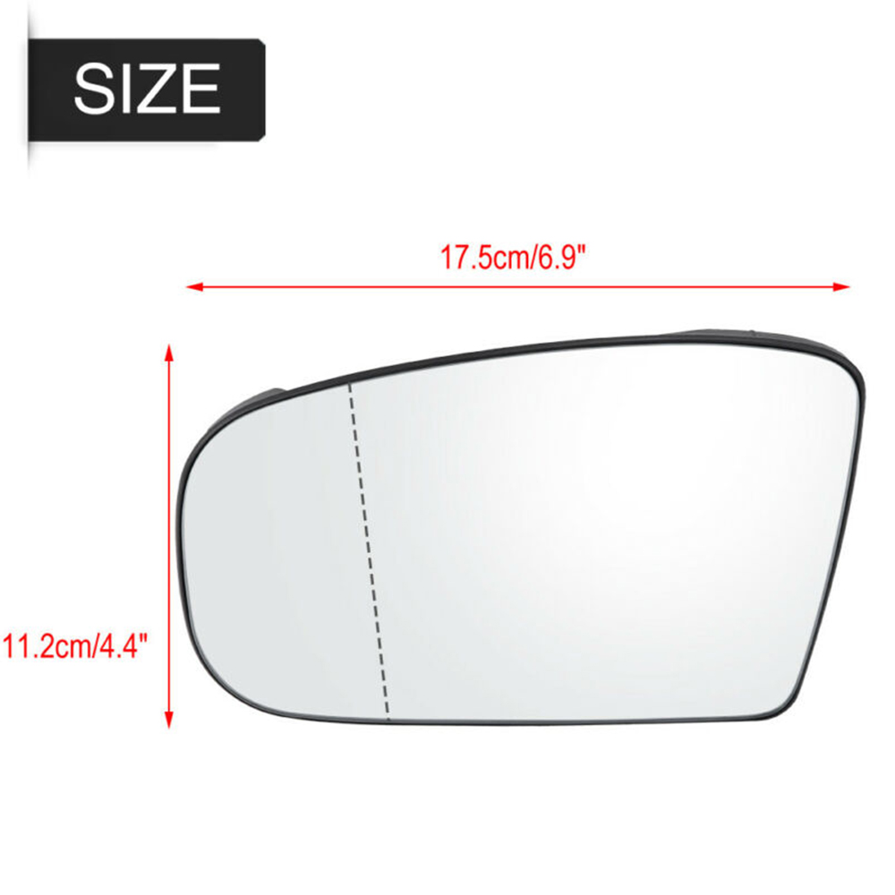 Replacement Rearview Mirror 17.5x11.2cm For Mercedes-<font><b>Benz</b></font> <font><b>W220</b></font> <font><b>S500</b></font> S600 image