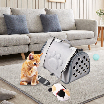 EVA Dogs Cat Folding Pet Carrier Cage Collapsible Puppy Crate Handbag Carrying Bags Pets Supplies Transport Chien Accessories фото