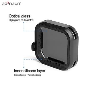Image 3 - حافظة إطار حماية قياسية من SOONSUN مزودة بمرشح عدسات ND8 لكاميرا GoPro Hero 5/6/7 باللون الأسود ملحقات 7 Pro