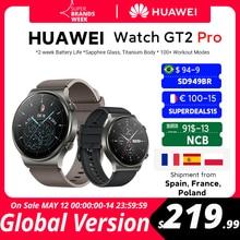 CODE:TARYFA12 150$-12 off W magazynie globalna wersja HUAWEI zegarek GT 2 pro SmartWatch 14 dni żywotność baterii GPS bezprzewodowe ładowanie Kirin A1 GT2 Pro
