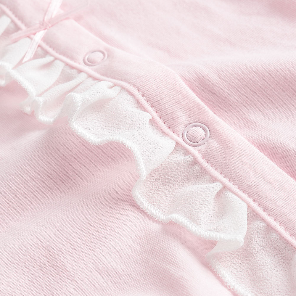 Autumn New Style Baby Clothes 2019 New Style Long Sleeve Pure Cotton Newborns Tracksuit Lace Baby Girls Nightgown