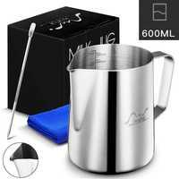 Latte In Acciaio Inox Brocca di Caffè Espresso Barista Mestiere Tazza di Schiuma di Latte Cappuccino Crema di Latte Brocca Brocca