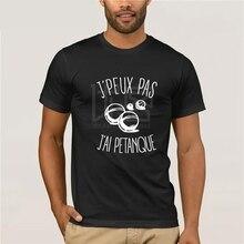 T-shirt J'peux pas j'ai Petanque Men T Shirt Print Cotton Short Sleeve T-shirt  Vintage Crew Neck  O Neck Cotton Tees Tops недорого