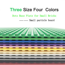 Legoily Double Bottom Plate Dots Base Plate for Bricks 5 Colors 32*32/16*16 Baseplate Board DIY Building Block Toys for Children