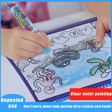 Magical Water Painting Coloring Drawing Book for Kids Toys Board Animals Repeated Educational Boys