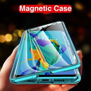 Магнитный чехол для телефона Huawei P40 Lite P30 Light P40 Pro, жесткий чехол с передней и задней магнитной застежкой, металлические Чехлы Hawei Honor 20 Pro 10 20 Lite