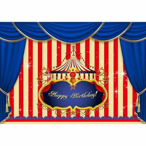 Image 3 - Allenjoy circus background photography stripes birthday party banner customized baby shower photographic curtain backdrops