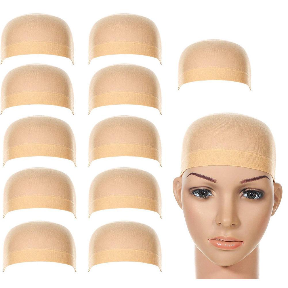 2/12Pcs Women Men Universal High Stretchy Wig Liner Cap Hat Hairpiece Accessory