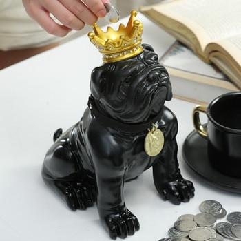 Funny Cartoon Resin Cute Piggy Bank Safe Dog Creative Money Boxes Change Jar Boy Hucha Gato Roba Monedas Toy Home Decor OO50CX