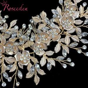 Image 4 - 愛きょう女性の結婚式のクリスタルヘッドバンドヘッドピースのヘアアクセサリージュエリー花嫁の花のラインストーンティアラ RE3247
