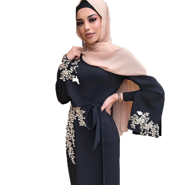 Dubai Muslim Prayer Dress For Women Moroccan Turkey Bangladesh Oman Islamic Clothing Robe Hijab