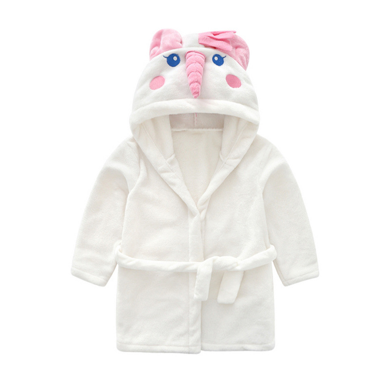 Autumn And Winter Children Flannel Bathrobe Children La Casa Ju Pao Girls Tracksuit Lace-up Bathrobe Autumn And Winter New Style