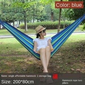 Image 2 - גן בחוץ ערסל נייד לתלות מיטת נסיעות קמפינג שינה ערסל נדנדה בד פס 200*80cm