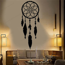 Dream Wall Decal catcher wall sticker vinyl home decor bedroom removable poster JH76 arrow wall decal dreamcatcher vinyl wall sticker bohemian design bedroom decor dream catcher feathers symbol wall mural ay1451