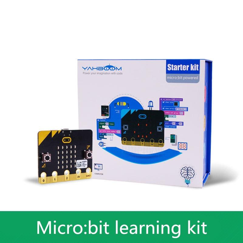 micro bit divertido aprendizagem kit placa de desenvolvimento de programacao grafica caule maker educacao compativel com