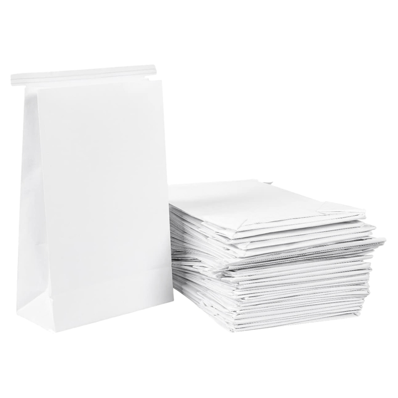 50 Pcs Vomit Bags White Throw Up Sick Bags For Motion Morning Sickness And Hangovers Travel Disposable Paper Puke Bag