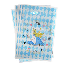 Loot-Bags Alice Wonderland-Theme Birthday-Party Party-Supplies Favors Shower-Gifts Plastic