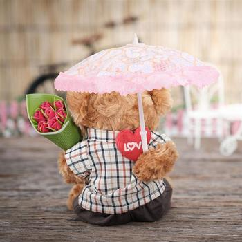 5pcs Baby Toys Mini Scene Umbrella Miniature Lace Parasol Crafts DIY Adornment For House Random Pattern And Color