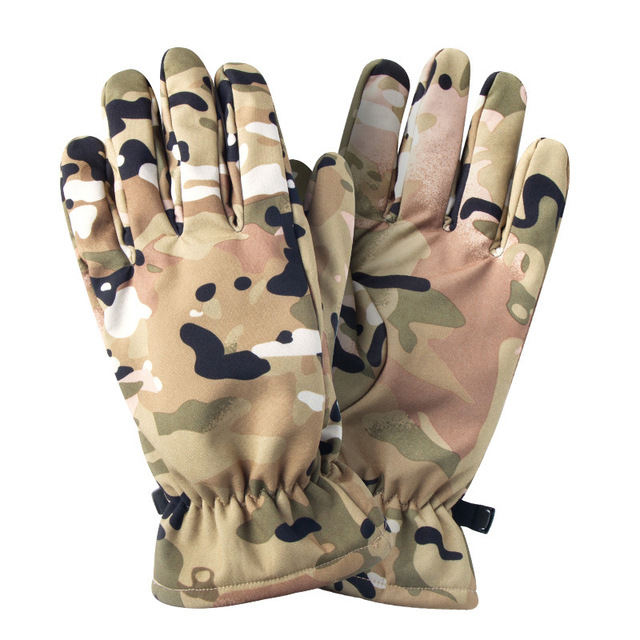 Quality Hunting Gloves Full Finger Plus Velvet Gloves Outdoor Tactical Camouflage Special Forces Cs Ski Riding Wild Hunting 2