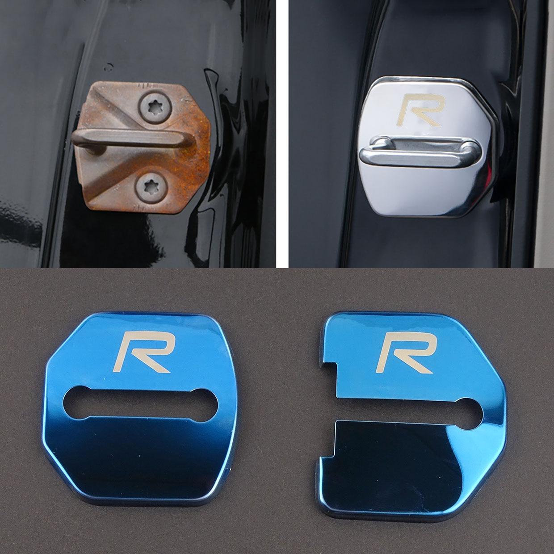 4pcs/set Anti Rust Car Door Lock FOR Volvo RDESIGN R DESIGN For Volvo V70 XC60 S60 V60 V40 XC90 Car Accessories