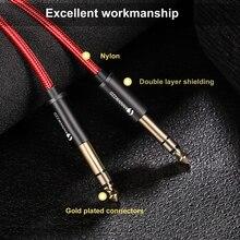 цена на 6.35mm Jack Audio Cable 6.35 Jack Male to Male Aux Cable 1m 2m 3m for Guitar Mixer Amplifier Bass 6.35mm Aux Cable