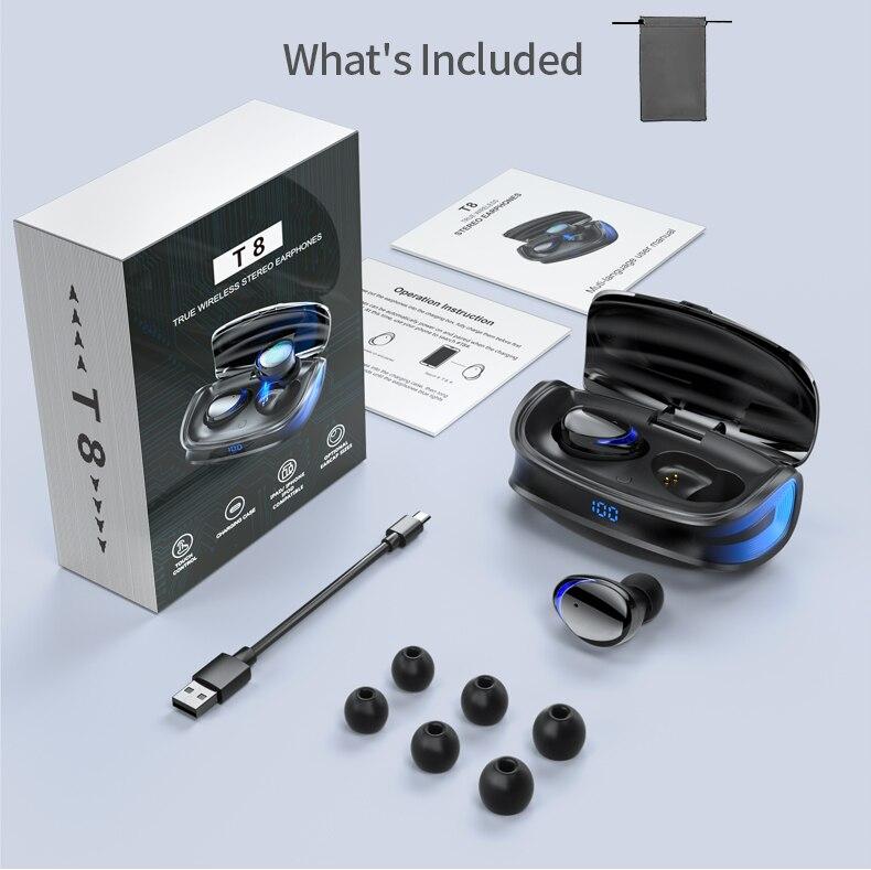 HJCE T8 TWS Wireless Bluetooth Earphones 13