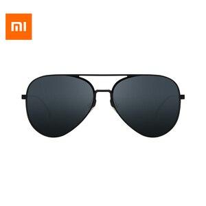 Image 1 - origianl Xiaomi Mijia Youpin Aviator Pilot Traveler Sunglasses Polarized Lens Sunglasses for Man and Woman mi life Sunglas