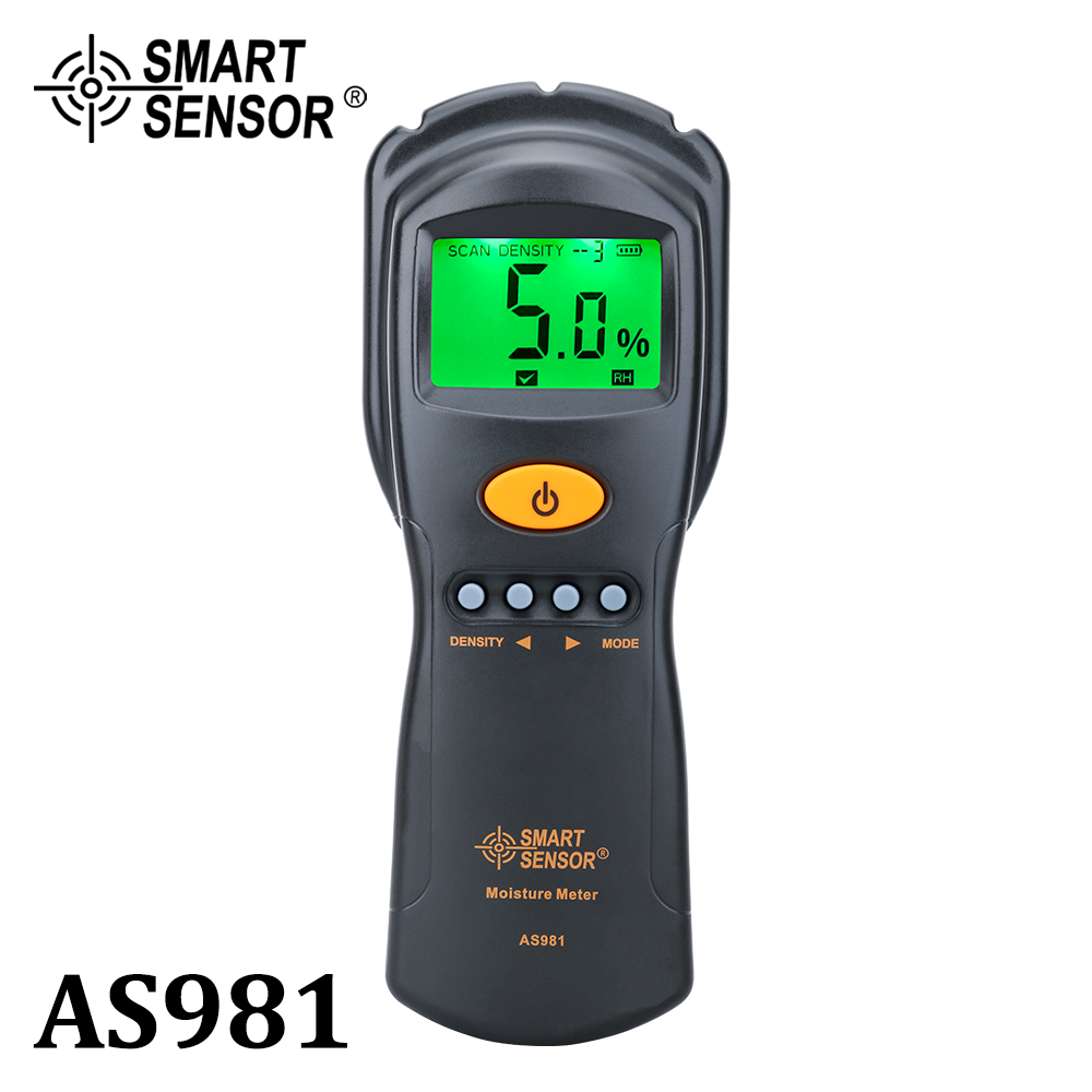 Digital hygrometer Moisture Meter for wood  cardboard Lumber Humidity Tester Fast  amp  Precise Microwave Measurement LCD display