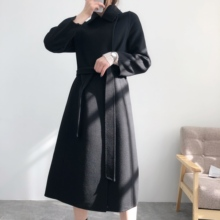 New fashion water ripple women's long coat in autumn and winter 2020