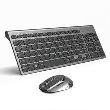 Joyaccessロシアワイヤレスキーボードマウスセット人間工学pcモウズサイレントボタンキーボードとマウスコンボ 2.4 ラップトップpc