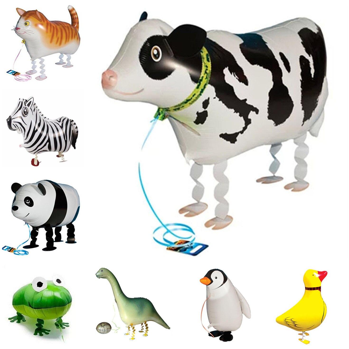 Ходячие животные, воздушный шар из фольги, ходячий Кот, корова, лягушка, гелиевые шары, детский праздник для будущей матери, детские игрушки