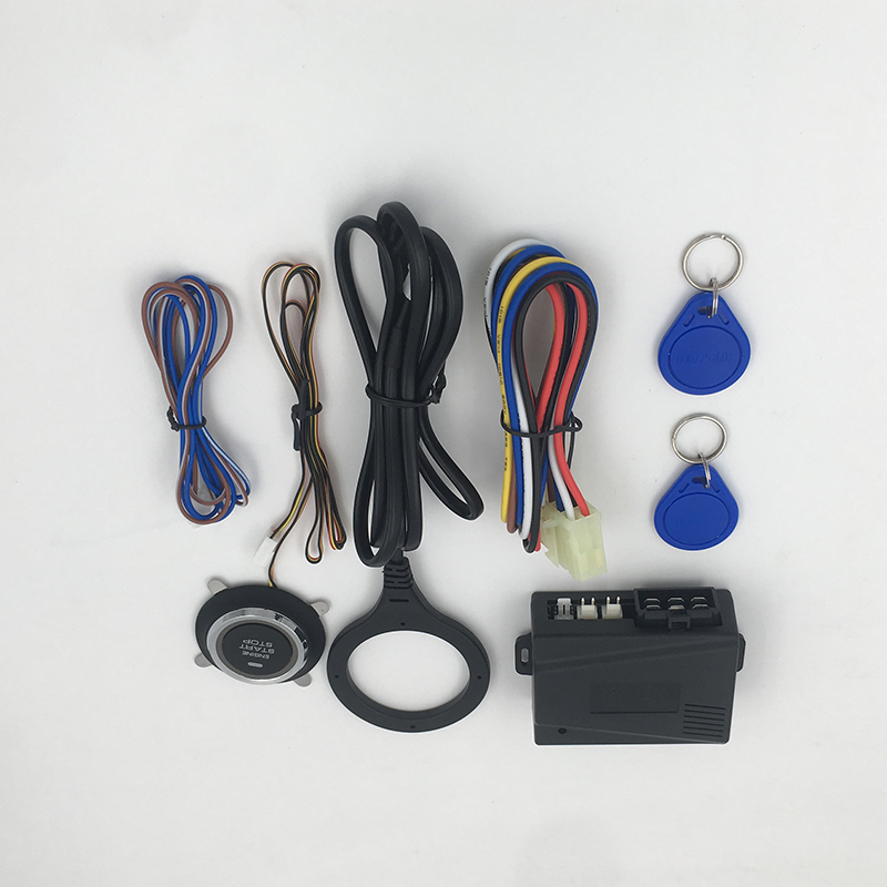 Hot 12V Car Alarm Car Engine Push Start Button RFID Lock Ignition Starter Keyless Entry Start Stop  Anti-theft System NQ-ST9005