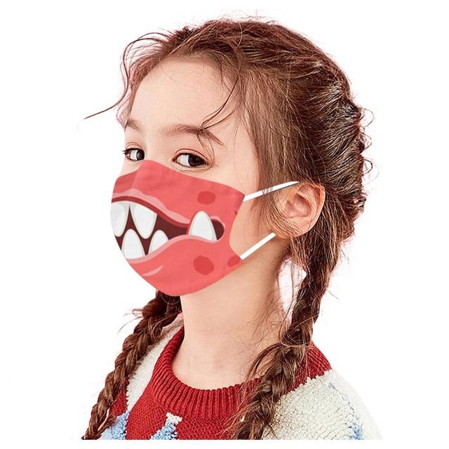 1PC Kids Children Outdoor Cotton Mouth Masks Washable Reusable Face Outdoor Desechables veilScarf Flag Bandana Drop-shipping#3 3