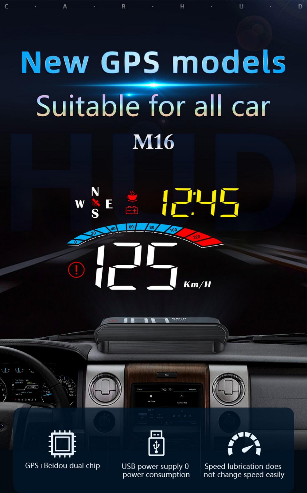 Автомобильный Универсальный obd2 hud head up display скоростной