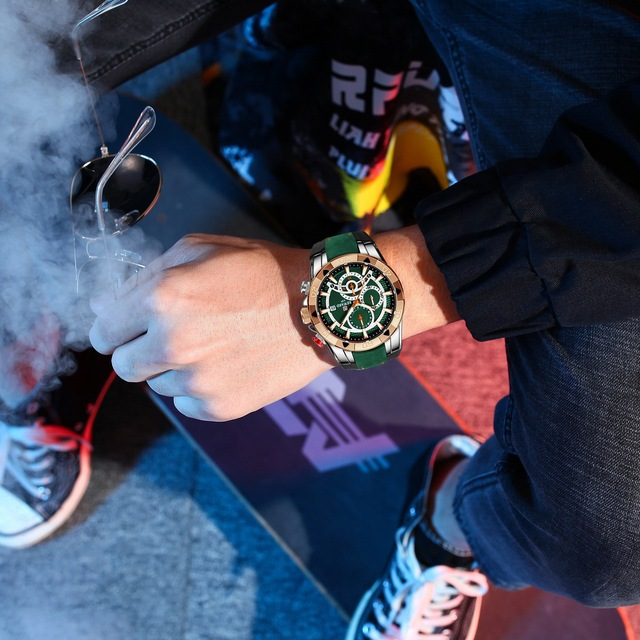 REWARD Men Quartz Watches Business Dress Waterproof Wristwatch Men Luxury silicone Sports watch men Gifts Montre homme 6