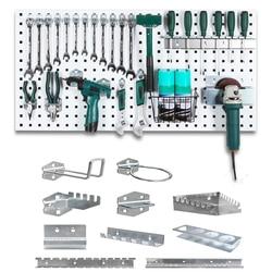Muur Gemonteerde Gat Boord Haak Hardware Tool Opbergrek Toolbox Opknoping Board Tool Opslag Hoek Grinder Organiseren Doos