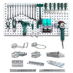 Wall-Mounted Hole board hook Hardware Tool Storage rack toolbox Hanging board Tool Storage Angle Grinder organize Box