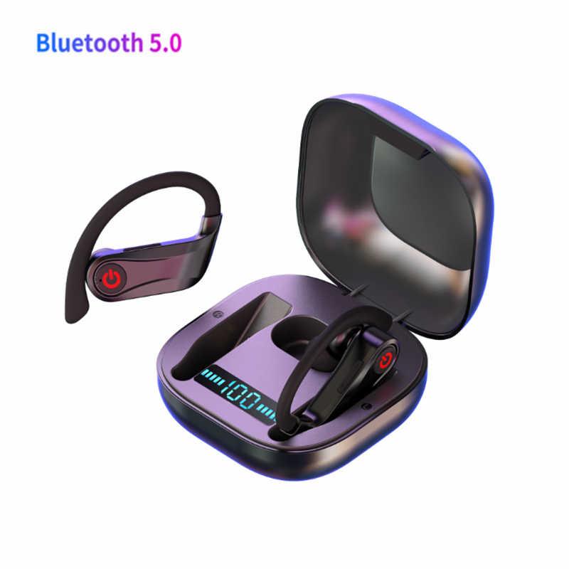 HBQ TWS Bluetooth 5,0, беспроводные наушники, 6D, стерео спортивные наушники, ушные крючки, Bluetooth наушники, водонепроницаемые наушники, дисплей питания