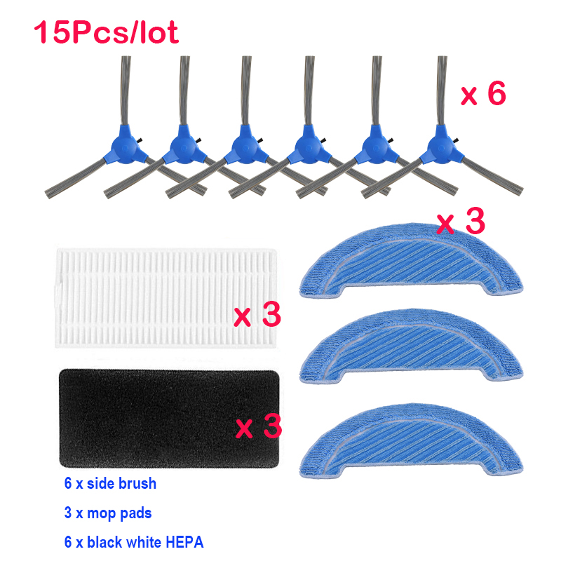 Dust Hepa Filter Side Brush Mop Pad Replacement Kits For Cecotec Conga 1090 Robotic Vacuum Cleaner Spare Parts