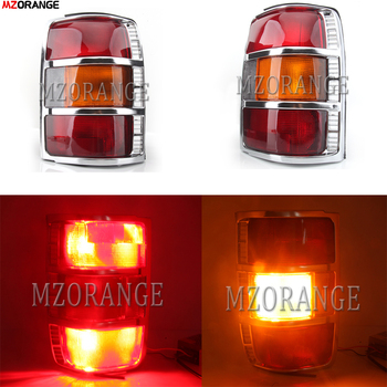 MZORANGE Car Styling Right Chrome Tail Light with Bulbs Rear Lamp Assembly for Mitsubishi Pajero / Montero 1991-1997