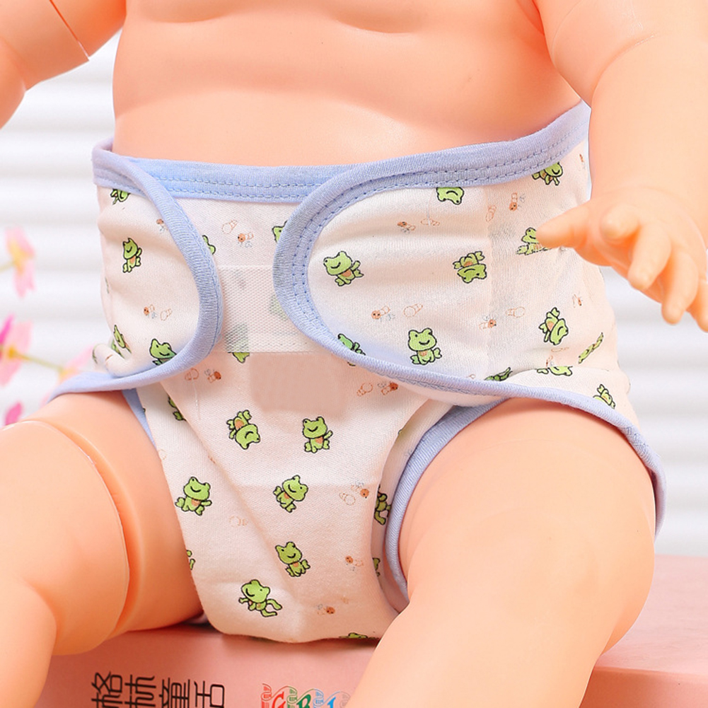 1pc Soft Cotton Baby Diaper Infants Breathable Diaper Pants Reusable Cartoon Nappy Pants Panties For Toilet Training Child