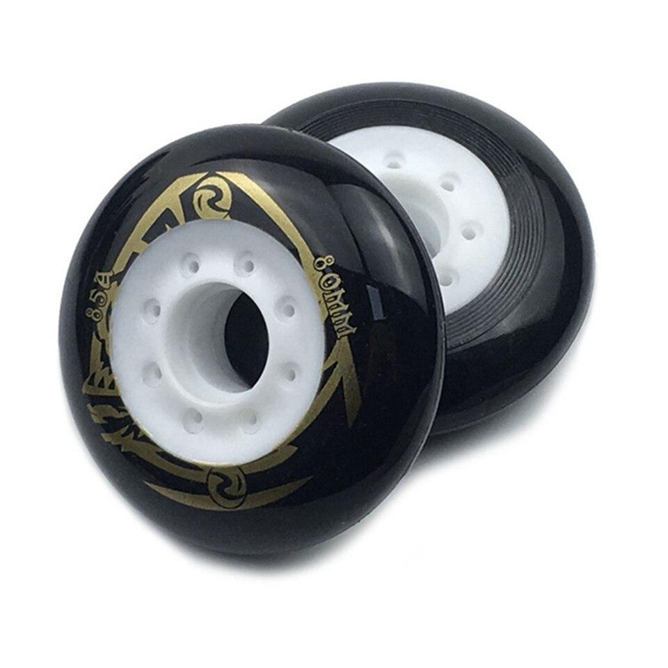 4 Pcs / Lot 80mm 85A Inline Skates Roller Slide Slalom Skates Wheels Good As Powerslide Seba Patins Roller Wheel LZ25-1
