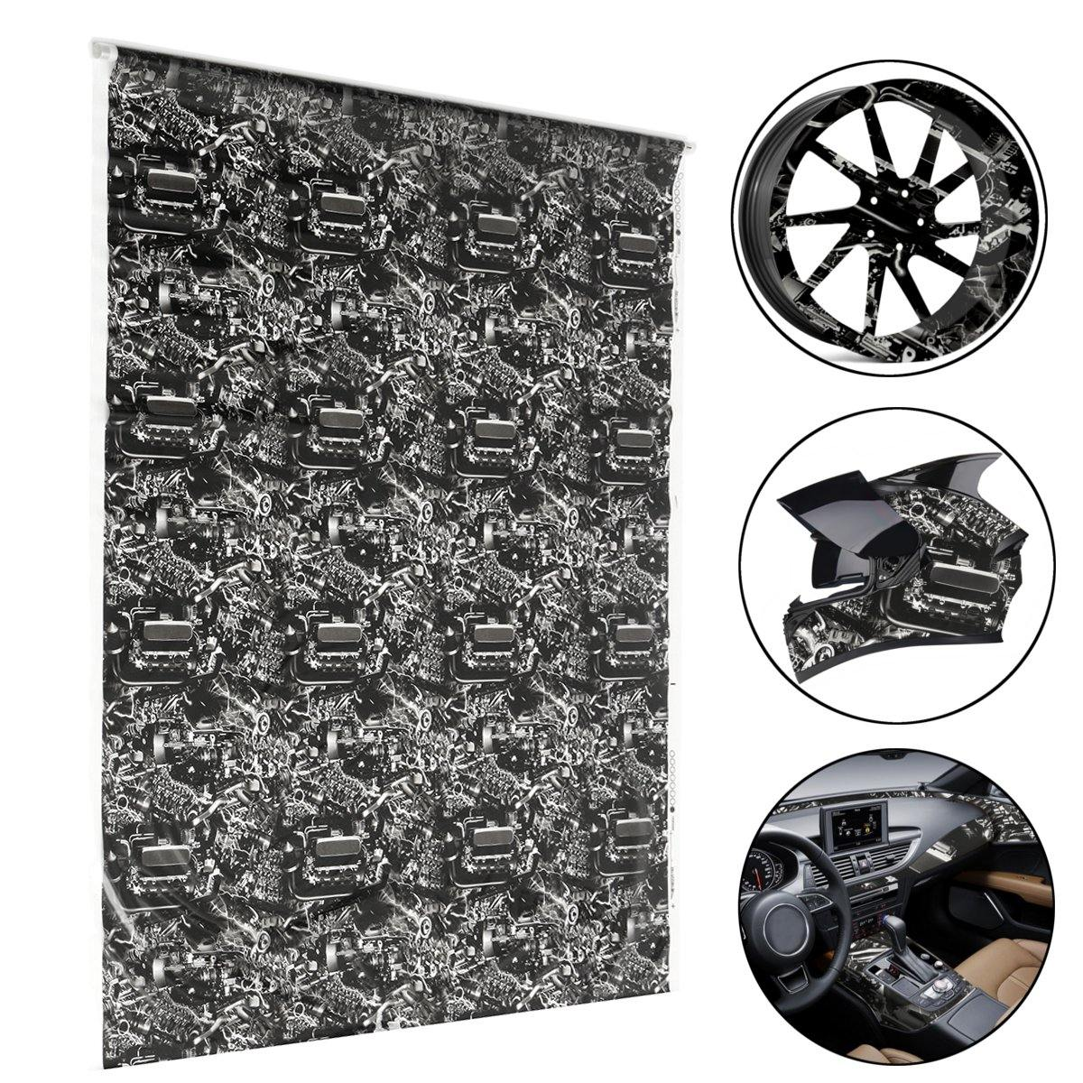 50x100cm Hydrographic Engine Machine Style Water Transfer Hydro Dipping DIP Print Film