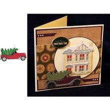Трафарет для скрапбукинга в форме машины с деревьями трафарет