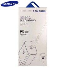 100% Original Samsung Note 10 โทรศัพท์มือถือ Super Fast Charger 25 W EU USB PD PSS FAST CHARGE ADAPTER EP TA800 หมายเหตุ 10 PLUS