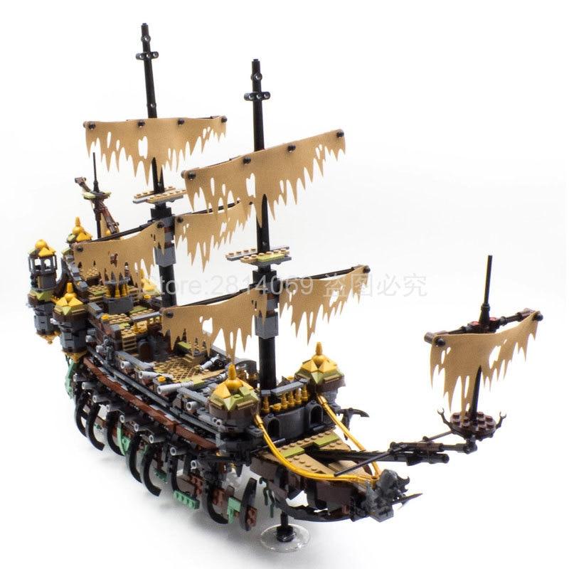 71042 Silent Mary Pirates Of The Caribbean Movie Captain Jack 16042 Model Building Block Bricks Toys Children Gift