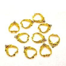 10 шт золотые Роскошные 3d украшения в форме сердца для дизайна